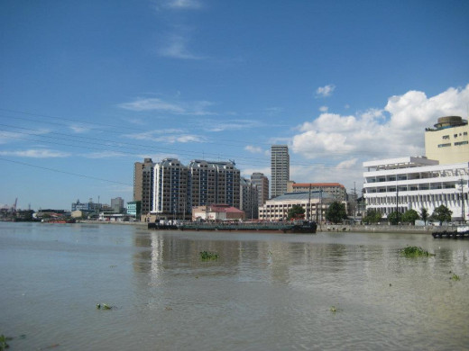 The view of Pasig River from Intramuros