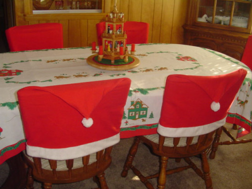Dressed up Christmas table