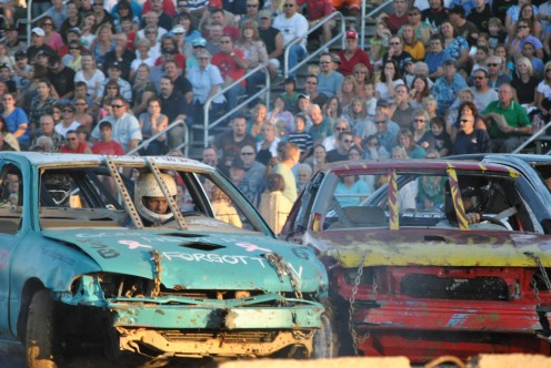 Compact automobiles make good demolition derby cars because they are abundant.