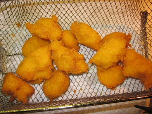 Ready to serve fritters