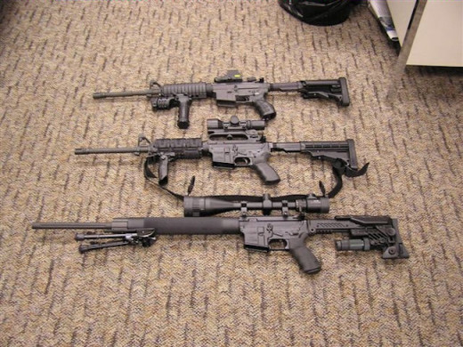 Just a few configuration of the AR-15