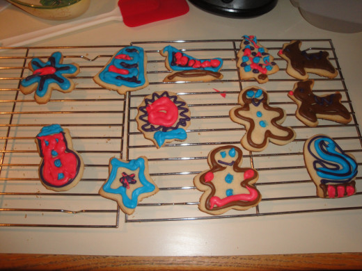My first batch of cut-out decorator cookies!