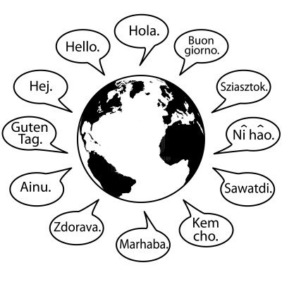 """The word """"Hello"""" in different languages"""