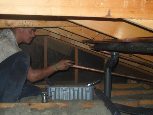 Repiping in attic