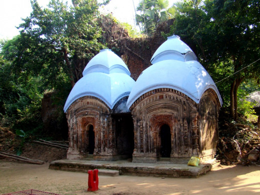 Two Aatchala temples dedicated to Lord Shiova; Bonkati Kali Tola