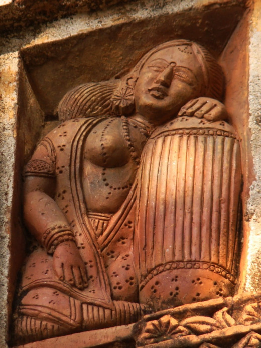 A lady with a pillow; Ajodhya