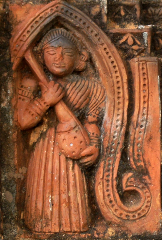 A lady with a Veena; Ajodhya