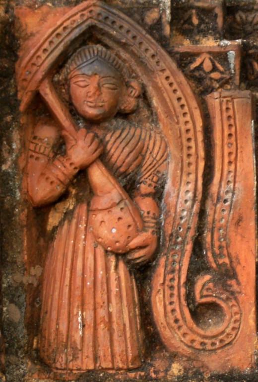 A lady with a Veena; Ajodhya