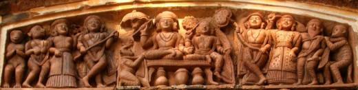 Lord Rama with Sita on throne; Bonkati