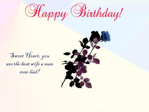 Happy Birthday Wife Card