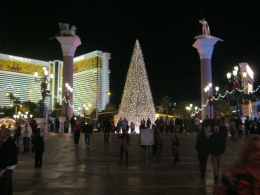 Christmas in Las Vegas ~ this is a place like no other. Decorating is done on a grand scale. This is the view from the Venetian Hotel.