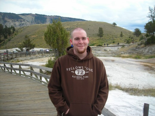 My son at Yellowstone
