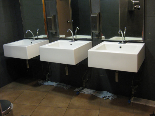 Italian public bathroom