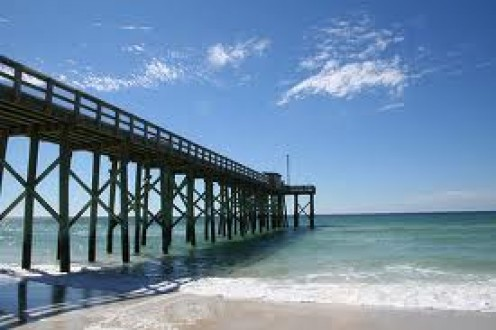 The Pier in P.C. Beach, Florida is a perfect place for sightseeing and Fishing. And of course getting a tan or sunburn.