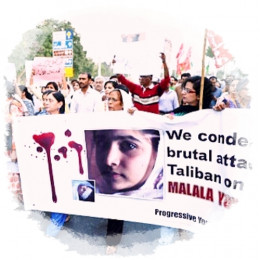 Pakistan, 2012: Muslims across the country condemned terrorists for attacking a 14 year old girl