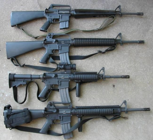 A few of the many looks of the M-16 Rifle.