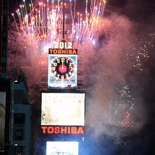 Ball Drop Event for 2012 at Times Square