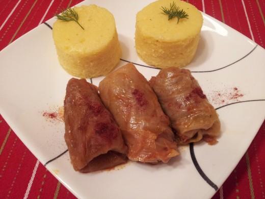 Cabbage Rolls with Polenta (Mamaliga cu sarmale)