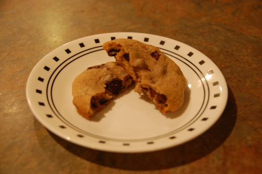 Triple chocolate chip cookies, yum!