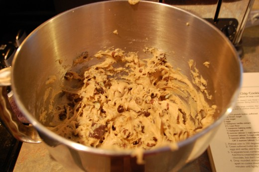 yummy chocolate chip cookie dough