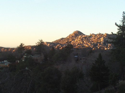 The view of the PInnacles in the late afternoon.