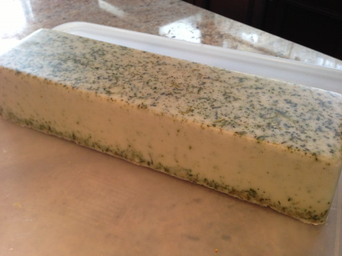 Chamomile & Mint; ready to cut into bars