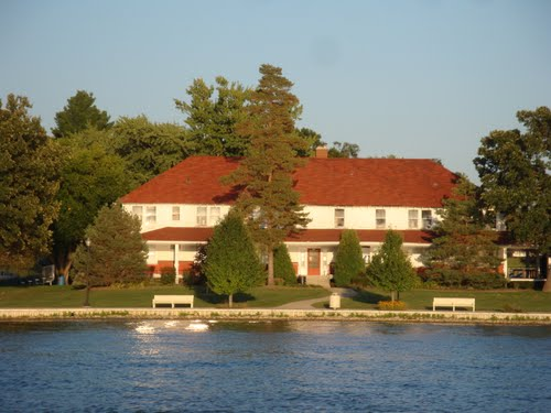 The Lake of the Red Cedars Museum is located on the shore of Cedar Lake