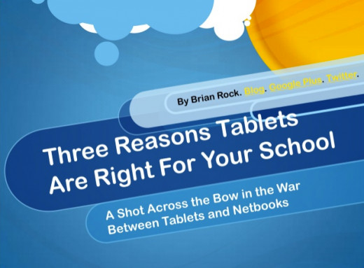 Check out this presentation for a summary of benefits that tablets have for education.