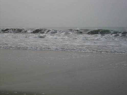 "The sea level is rising day by day ( Photo of ""Bay of Bengal"", the Largest Bay in the World)"