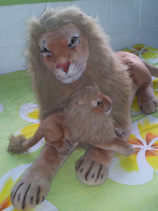 My daughter's Lydia Lions  - named Mufasa and Simba, from Lion King characters.