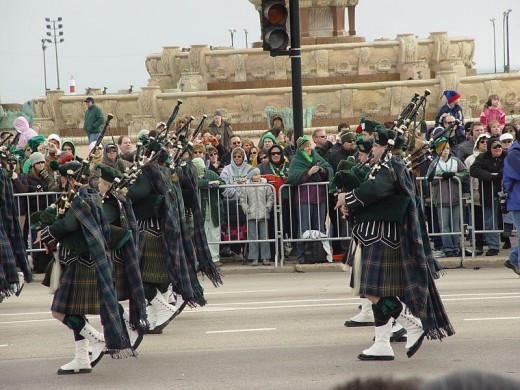 Fuzzy Gerdes photographed the St. Patrick's Day Parade in Chicago, Illinois on March 17, 2007.