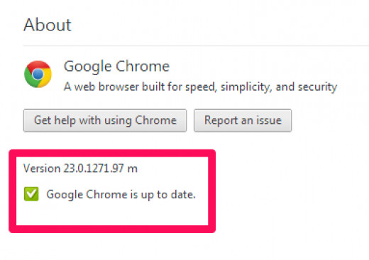 Figure 2.2 Chrome Version