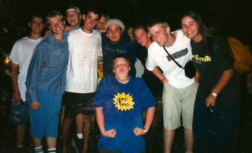 me and some friends after one of those summer nights (that's Sonny from P.O.D. in the middle)