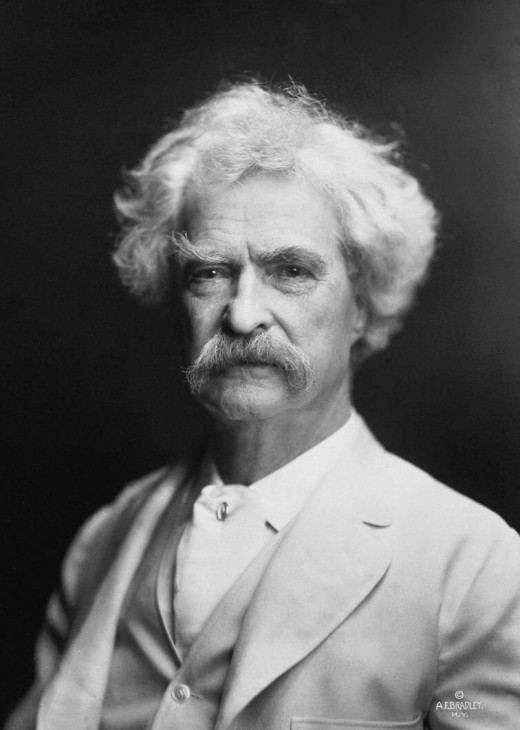 Mark Twain in 1907, yet another master of sayings.