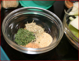 Spices enhance the broth. Rosemary, garlic dried parsley, and meat seasoning (no MSG!)
