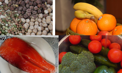 Eat healthy foods from different varieties