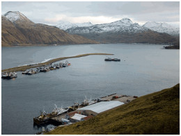 Dutch Harbor Alaska where most King Crab is processed and shipped all over the world.