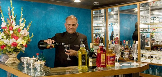 Bar is a regular feature in all luxury trains in India