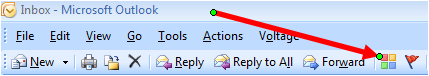 How to access the categorise button in Outlook 2007.