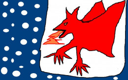 The Welsh dragon dates back to pagan times.