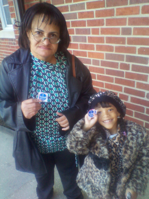 Annette and Maria after the polls 2012