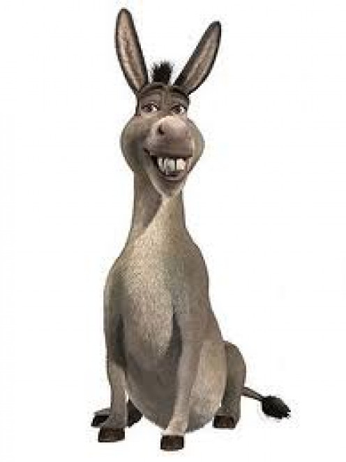 Only talking donkey around here is in 'Shrek'