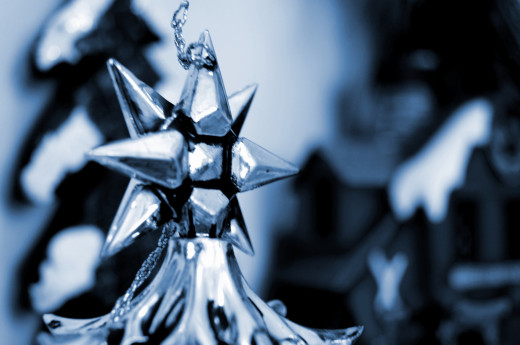 Silver Star Ornament