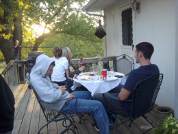 Hanging out on the deck, visiting or playing games helps a host feel included and important.