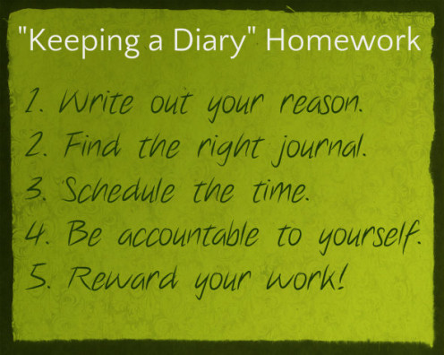 These are the 5 homework items I assigned throughout this hub in one nifty, go-to spot.