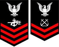 Left to Right:  Special Warfare Operator 1st Class and Boatswain's Mate 2nd Class