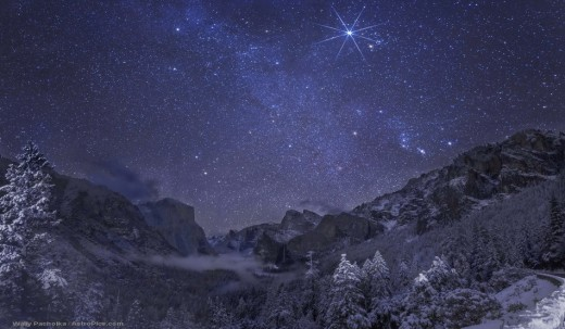 Found this picture of the stars over Yosemite and had to share it with my readers.