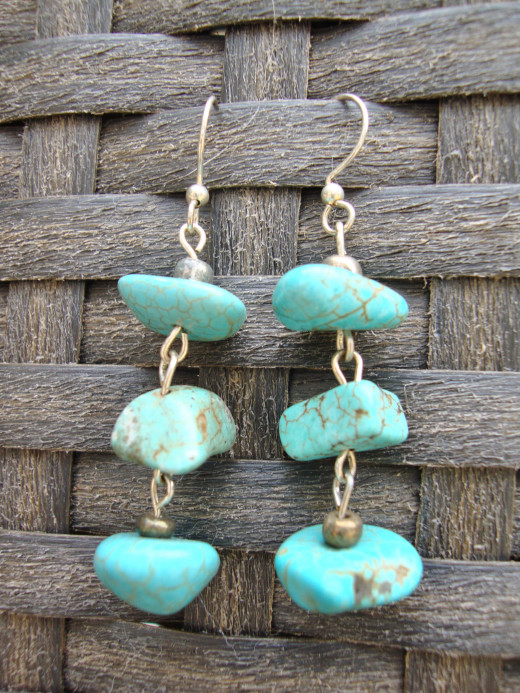 Turquoise nuggets.