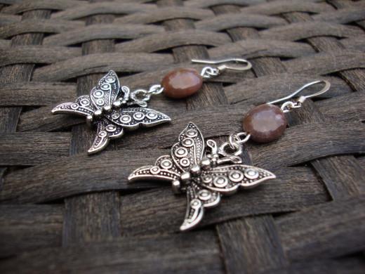 Gemstones and butterflies.