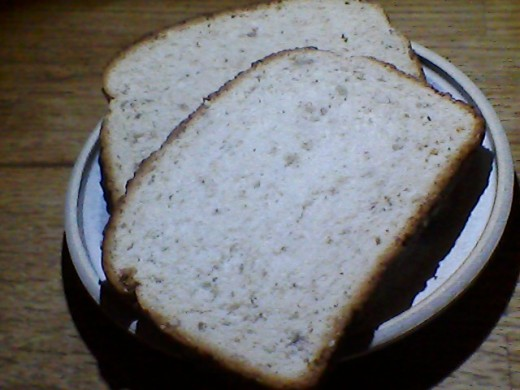 Multi-grain bread is especially good toasted.